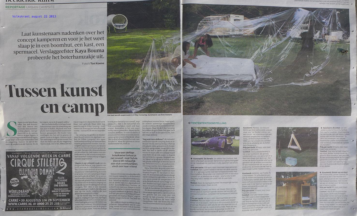 Volkskrant 22 August 2013 Rob Sweere
